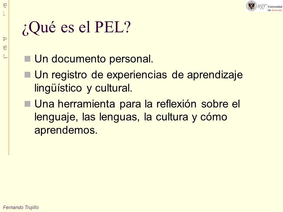 ¿Qué es el PEL Un documento personal.