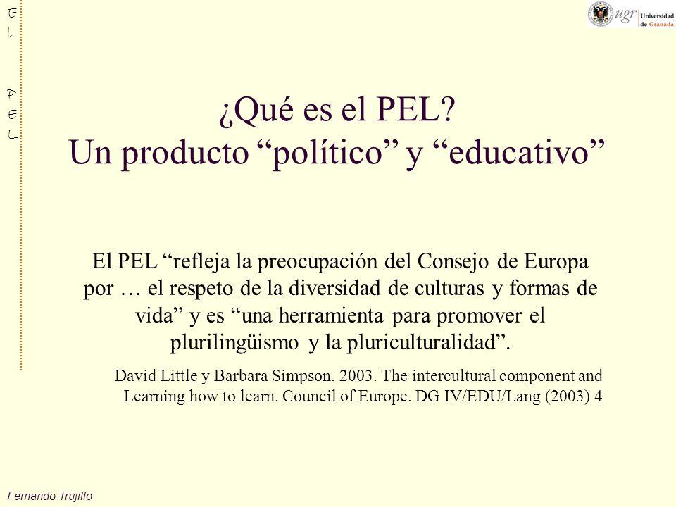 ¿Qué es el PEL Un producto político y educativo