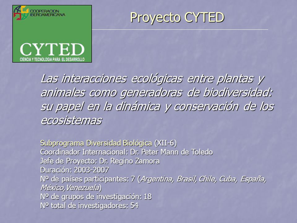 Proyecto CYTED