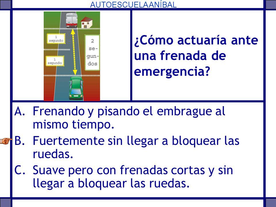 ¿Cómo actuaría ante una frenada de emergencia