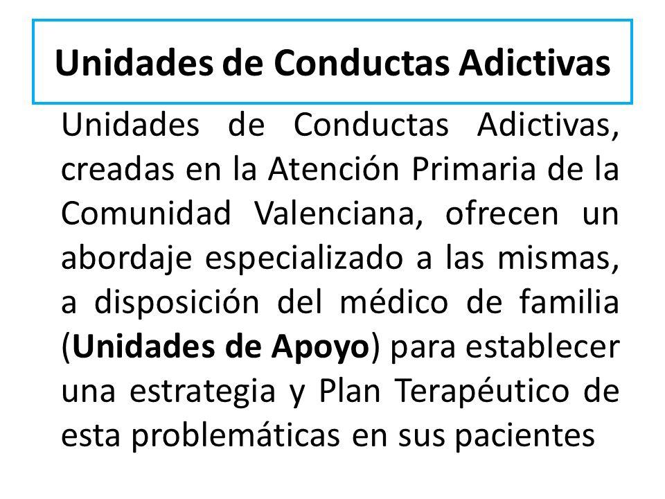 Unidades de Conductas Adictivas