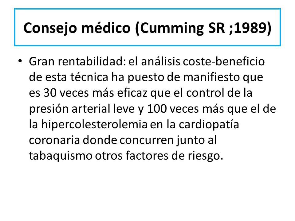 Consejo médico (Cumming SR ;1989)