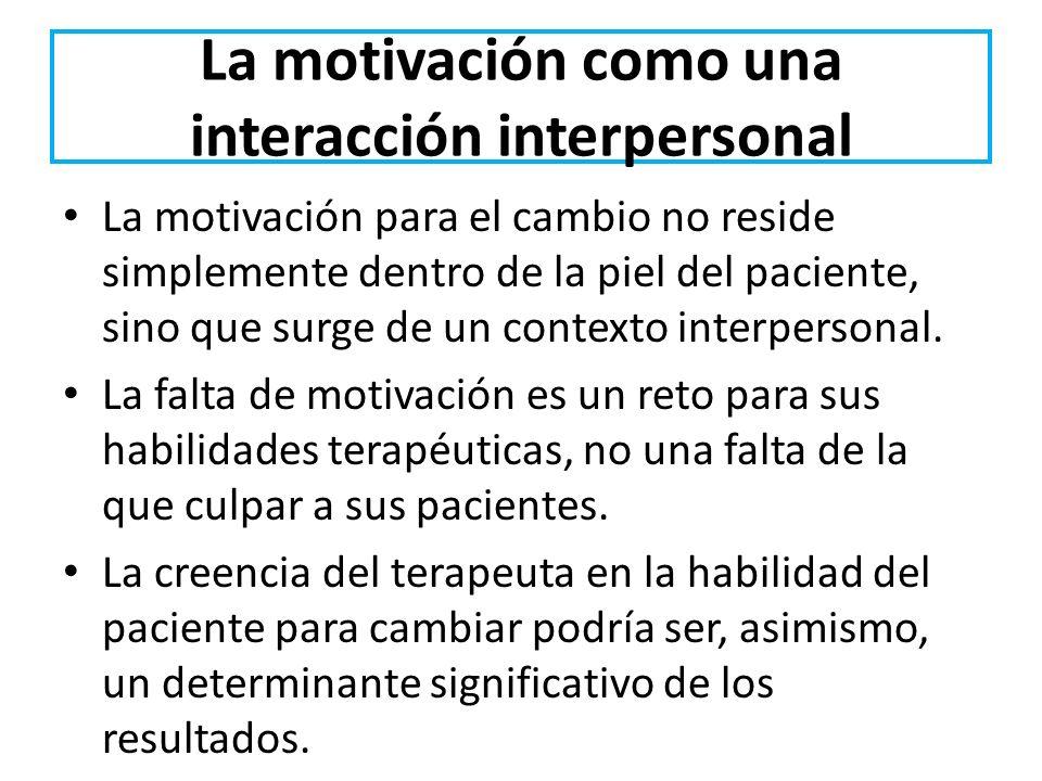 La motivación como una interacción interpersonal