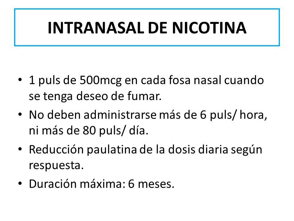 INTRANASAL DE NICOTINA