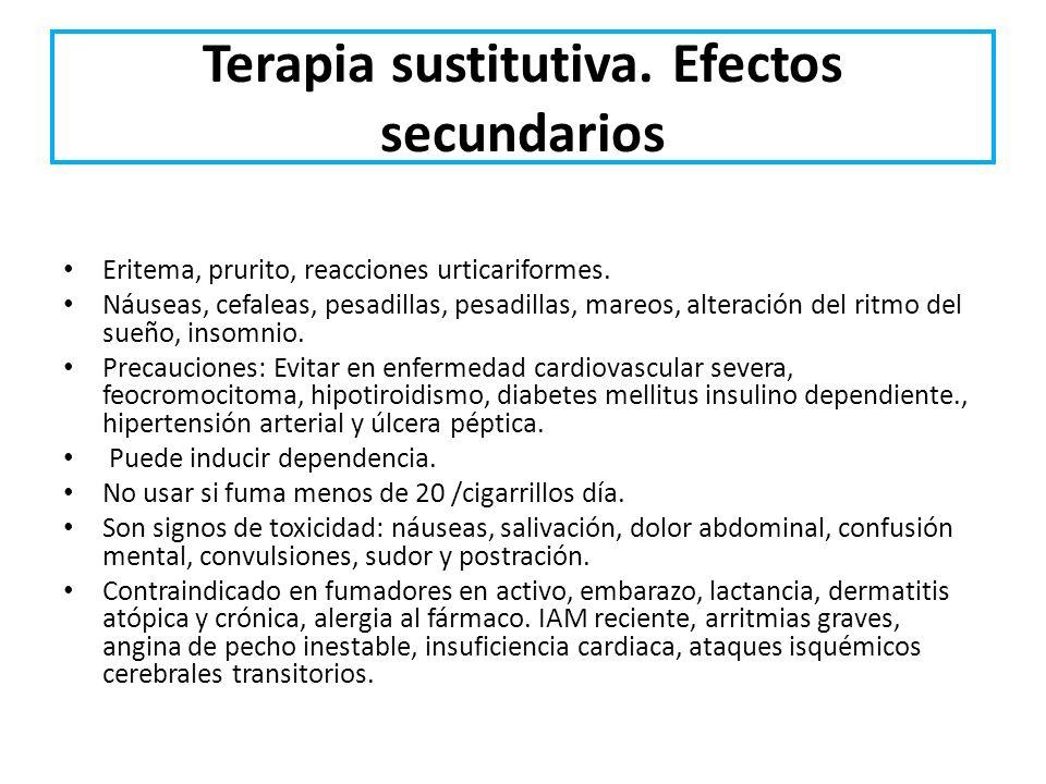 Terapia sustitutiva. Efectos secundarios