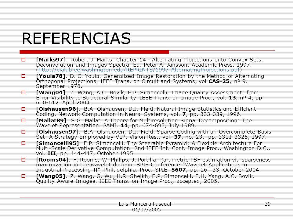 Luis Mancera Pascual - 01/07/2005