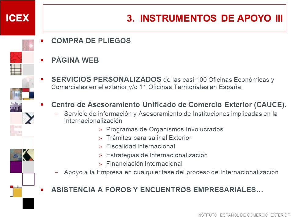3. INSTRUMENTOS DE APOYO III