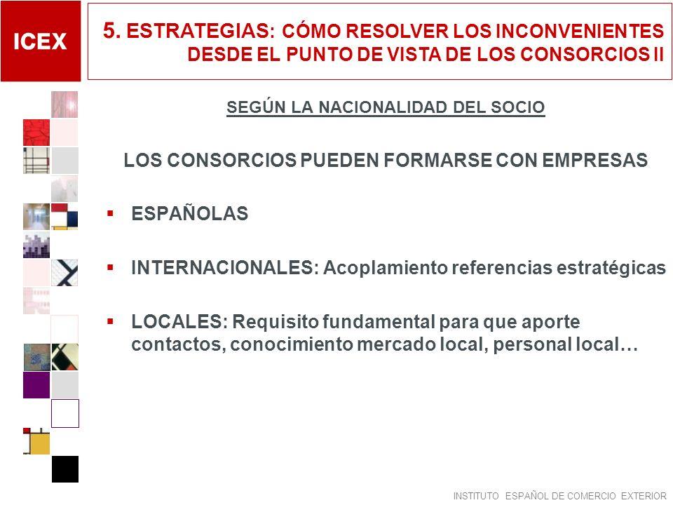 5. ESTRATEGIAS: CÓMO RESOLVER LOS INCONVENIENTES DESDE EL PUNTO DE VISTA DE LOS CONSORCIOS II