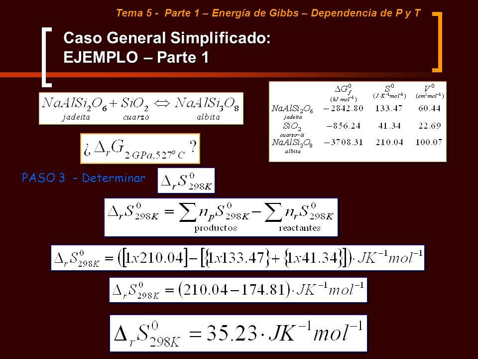 Caso General Simplificado: EJEMPLO – Parte 1