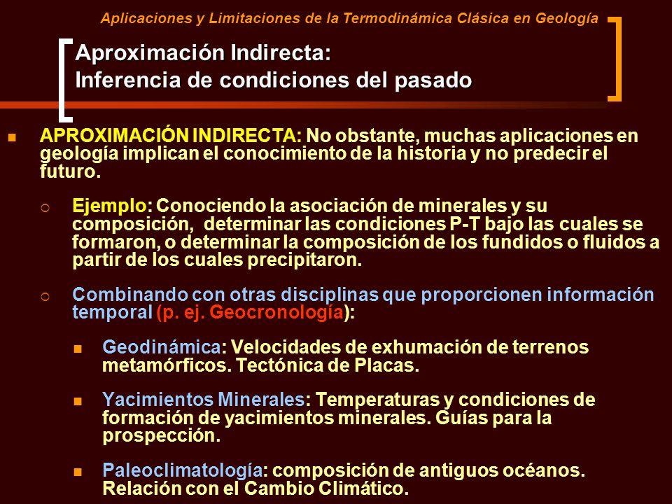 Aproximación Indirecta: Inferencia de condiciones del pasado