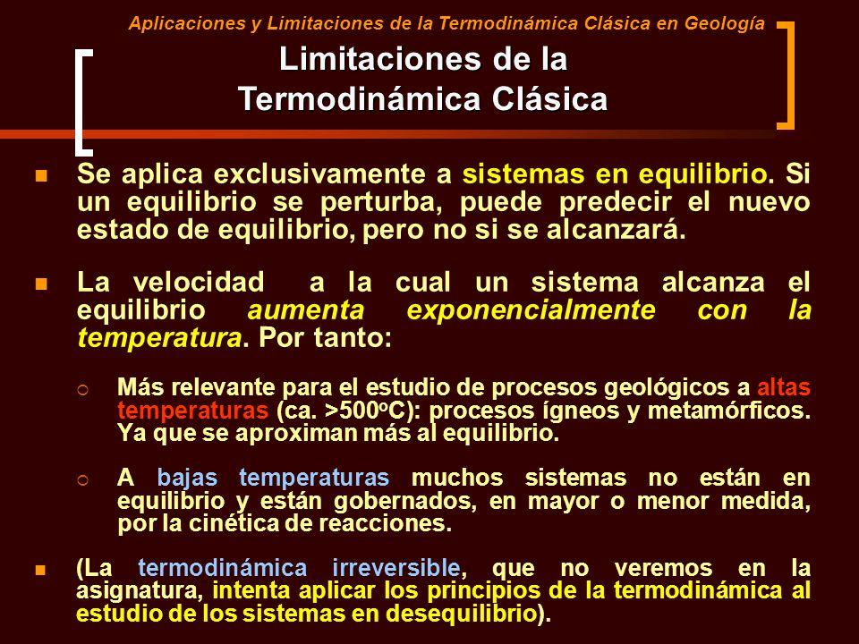 Limitaciones de la Termodinámica Clásica