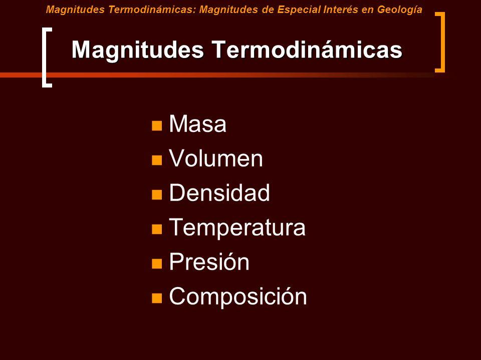 Magnitudes Termodinámicas