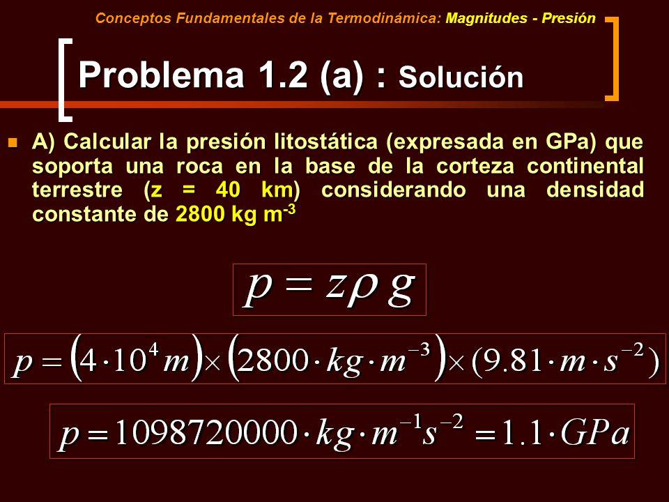 Problema 1.2 (a) : Solución