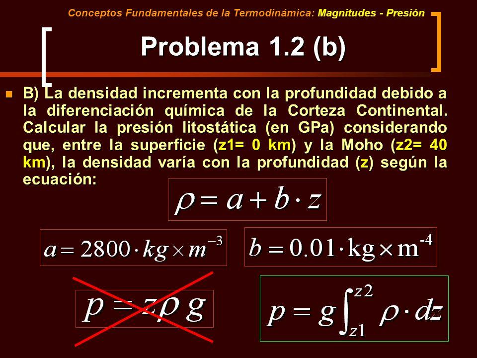 Tema 8. Segunda Parte Conceptos Fundamentales de la Termodinámica: Magnitudes - Presión. Parte 2. Ecuaciones de la Difusión. Leyes de Fick.