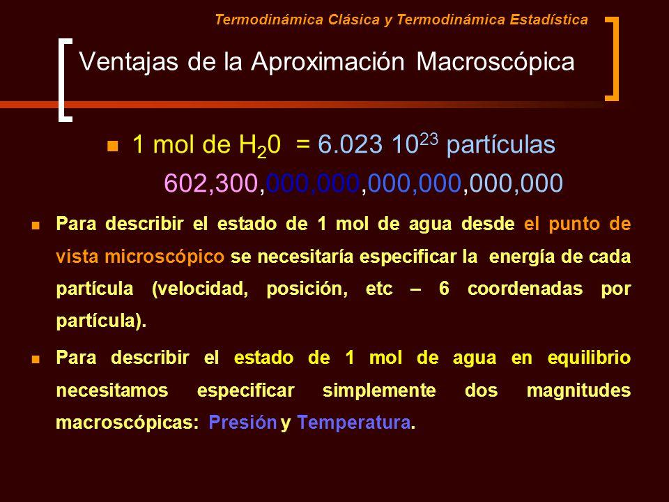 Ventajas de la Aproximación Macroscópica