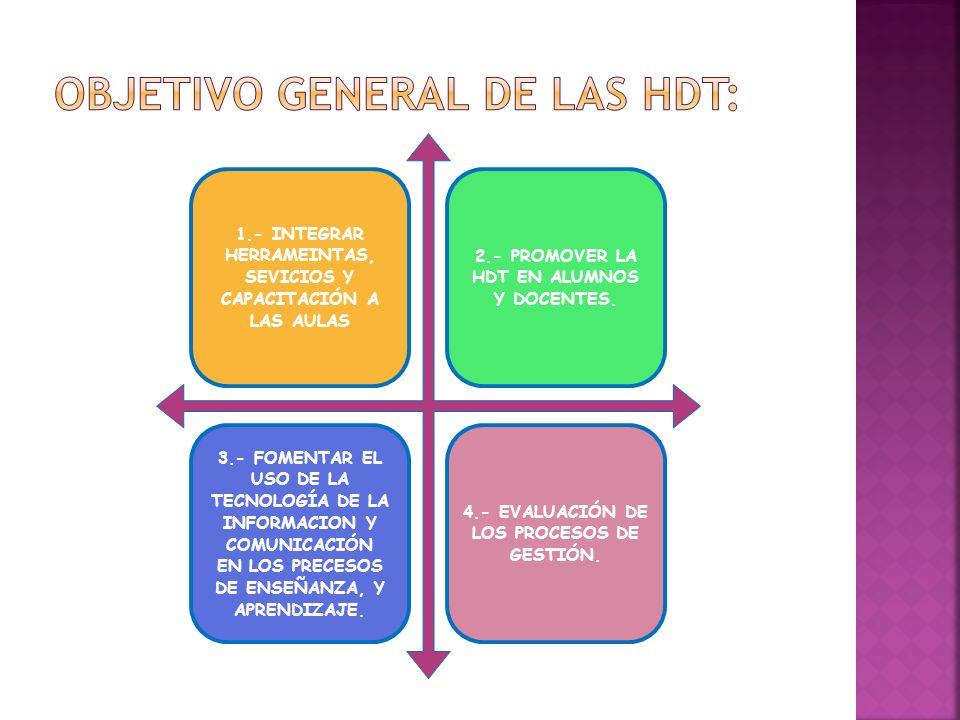 OBJETIVO GENERAL DE LAS HDT: