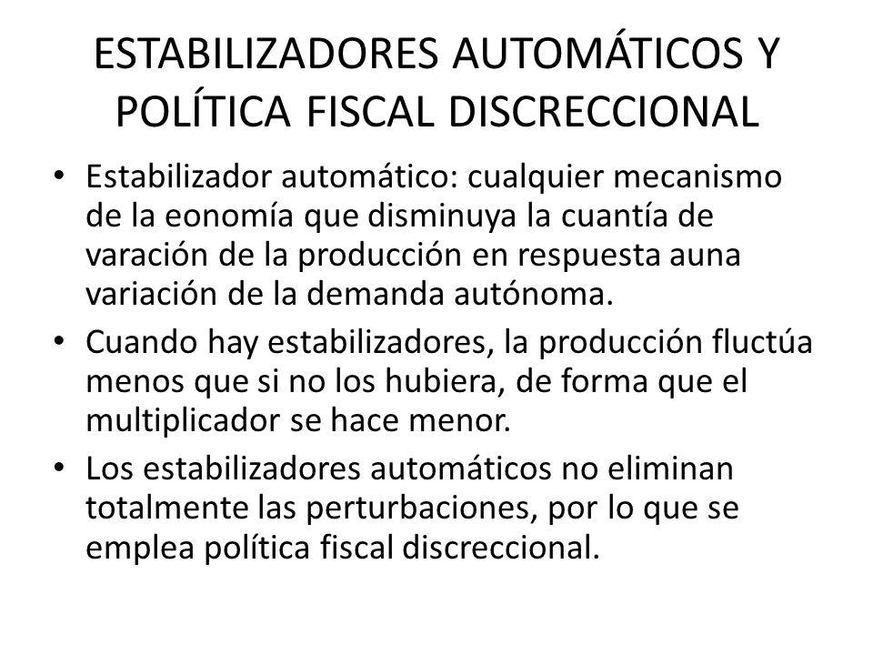 ESTABILIZADORES AUTOMÁTICOS Y POLÍTICA FISCAL DISCRECCIONAL
