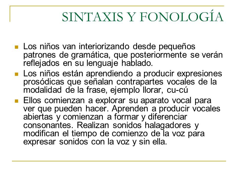 SINTAXIS Y FONOLOGÍA