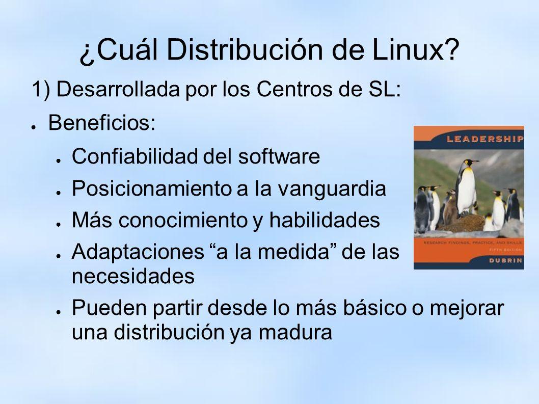¿Cuál Distribución de Linux