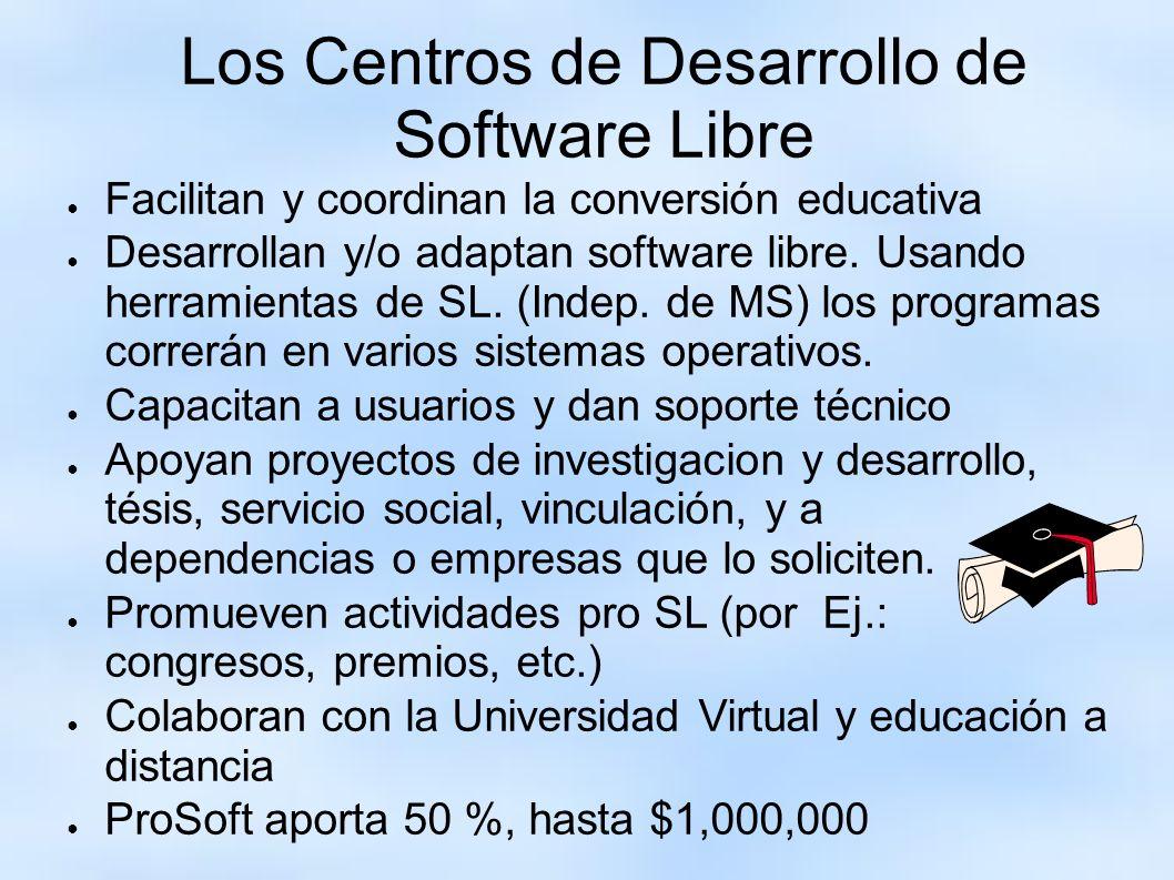 Los Centros de Desarrollo de Software Libre