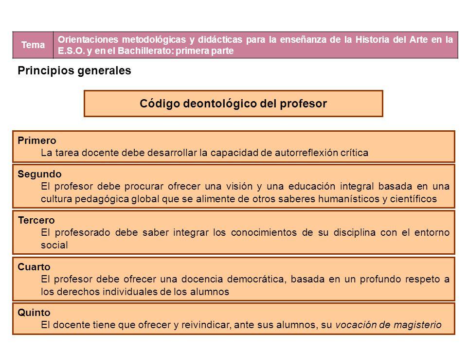 Código deontológico del profesor