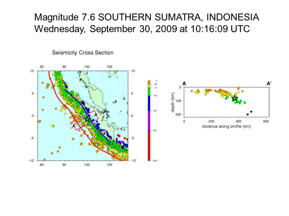 Magnitude 7.6 SOUTHERN SUMATRA, INDONESIA
