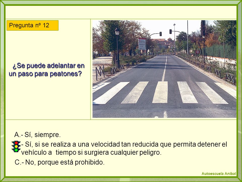 ¿Se puede adelantar en un paso para peatones