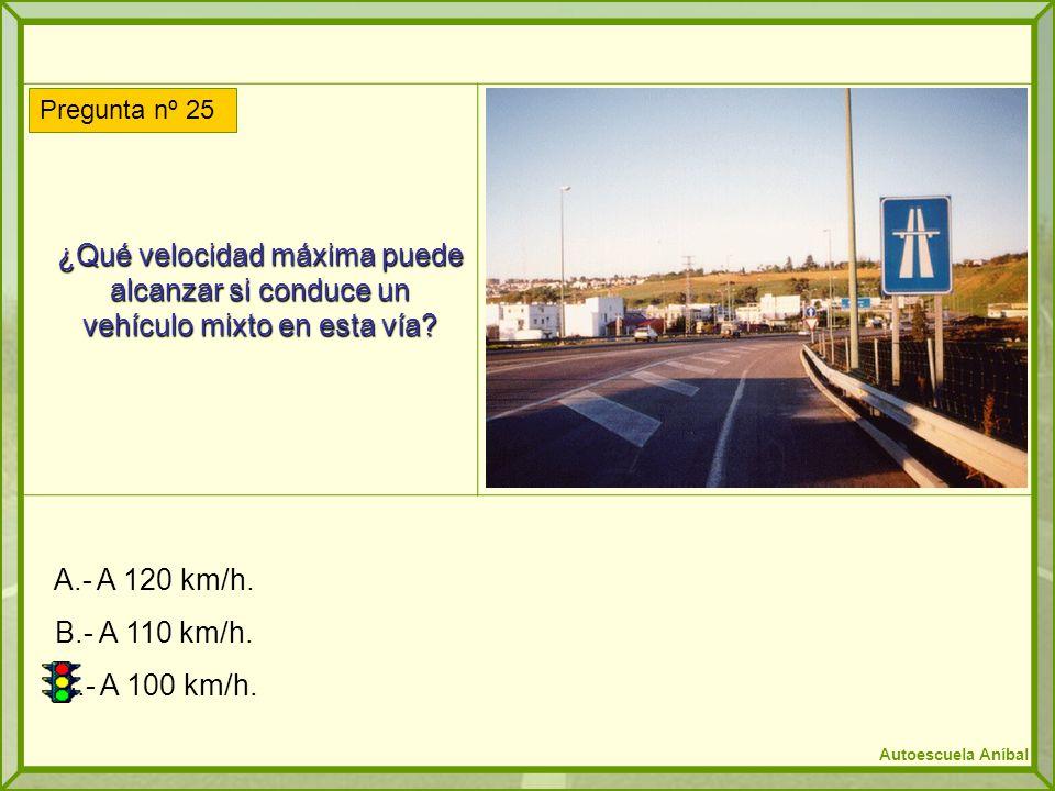 ¿Qué velocidad máxima puede alcanzar si conduce un vehículo mixto en esta vía