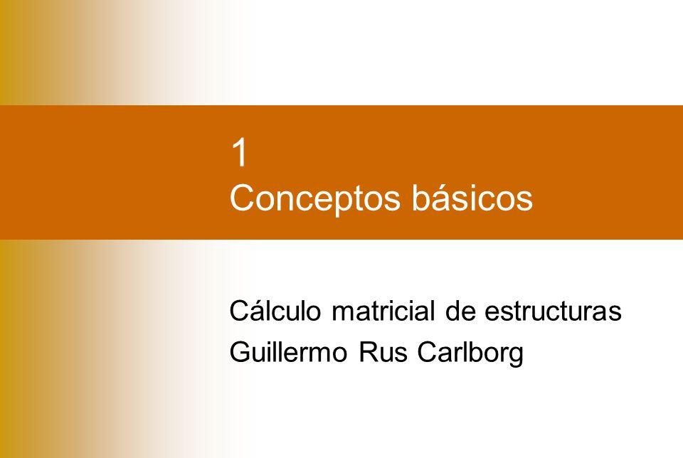Cálculo matricial de estructuras Guillermo Rus Carlborg