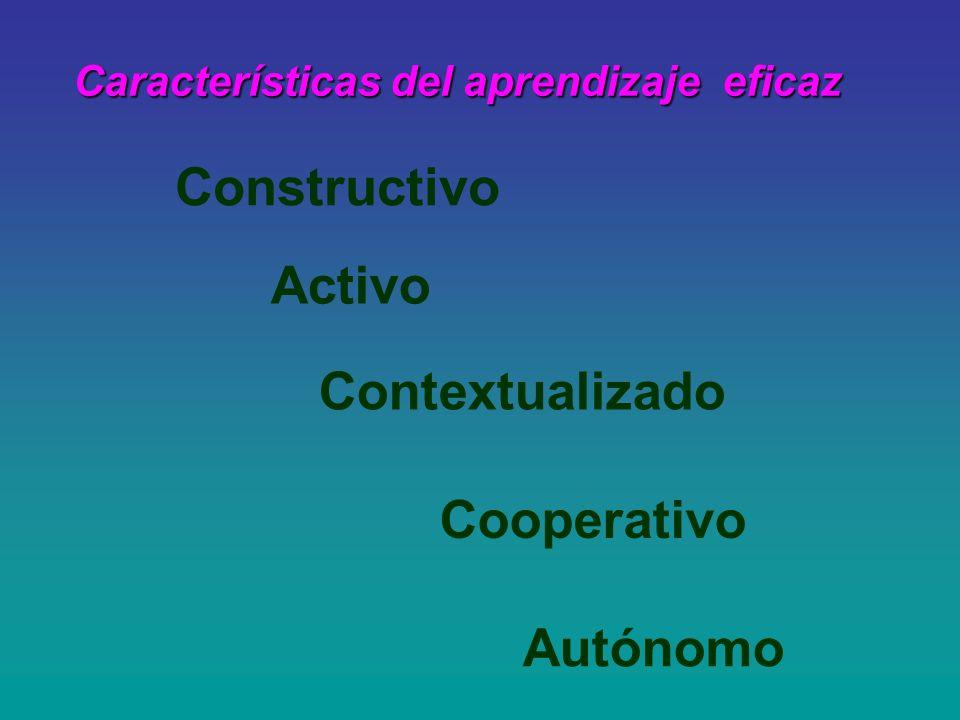 Características del aprendizaje eficaz