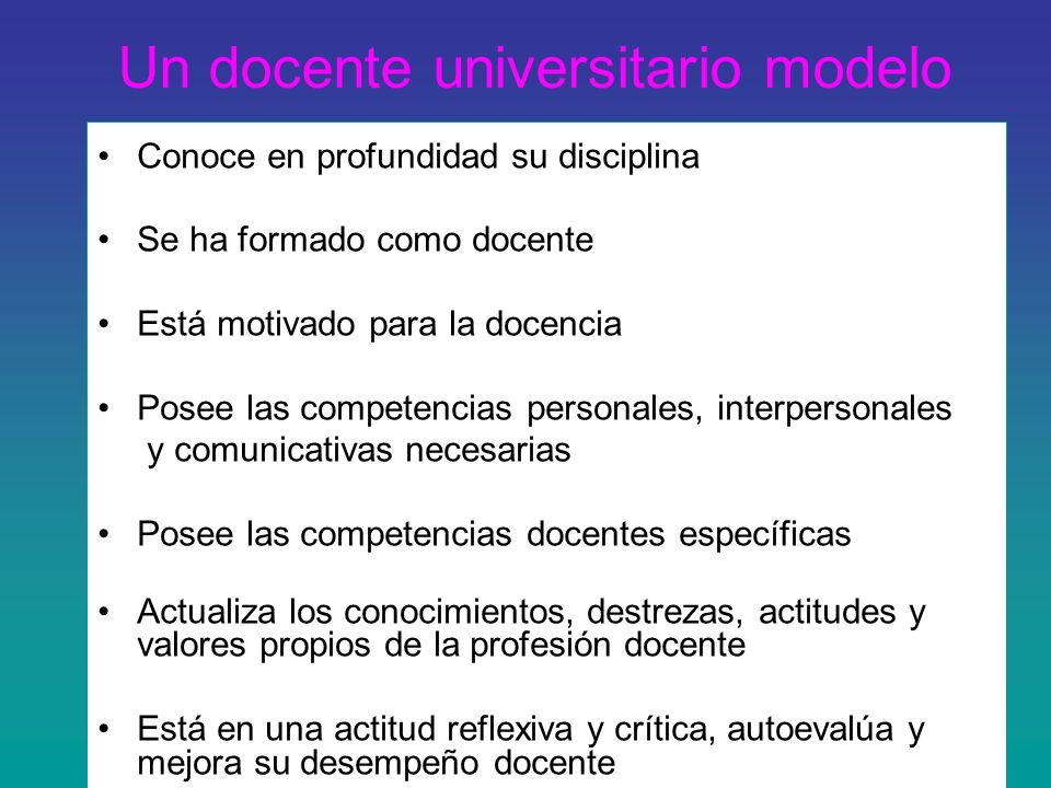 Un docente universitario modelo
