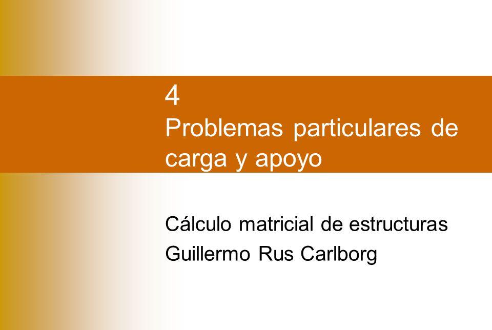 4 Problemas particulares de carga y apoyo