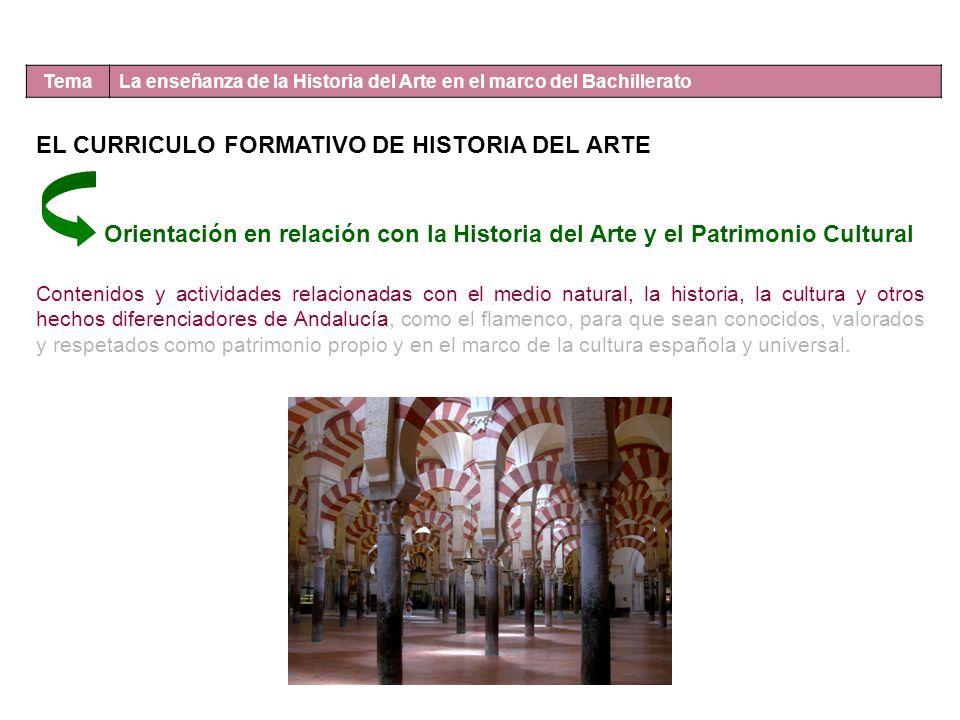 EL CURRICULO FORMATIVO DE HISTORIA DEL ARTE