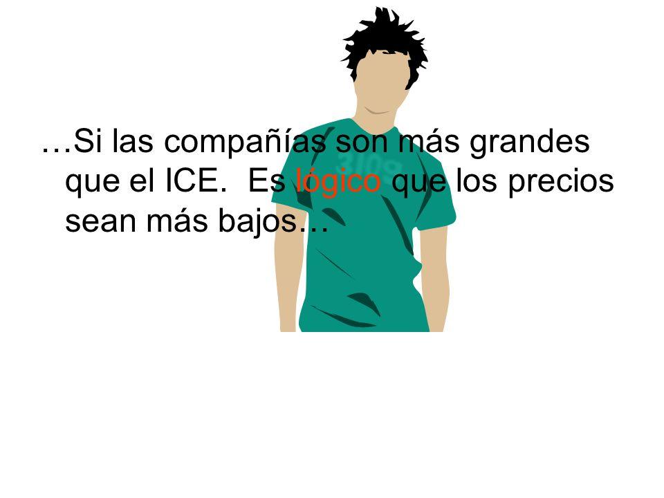 …Si las compañías son más grandes que el ICE