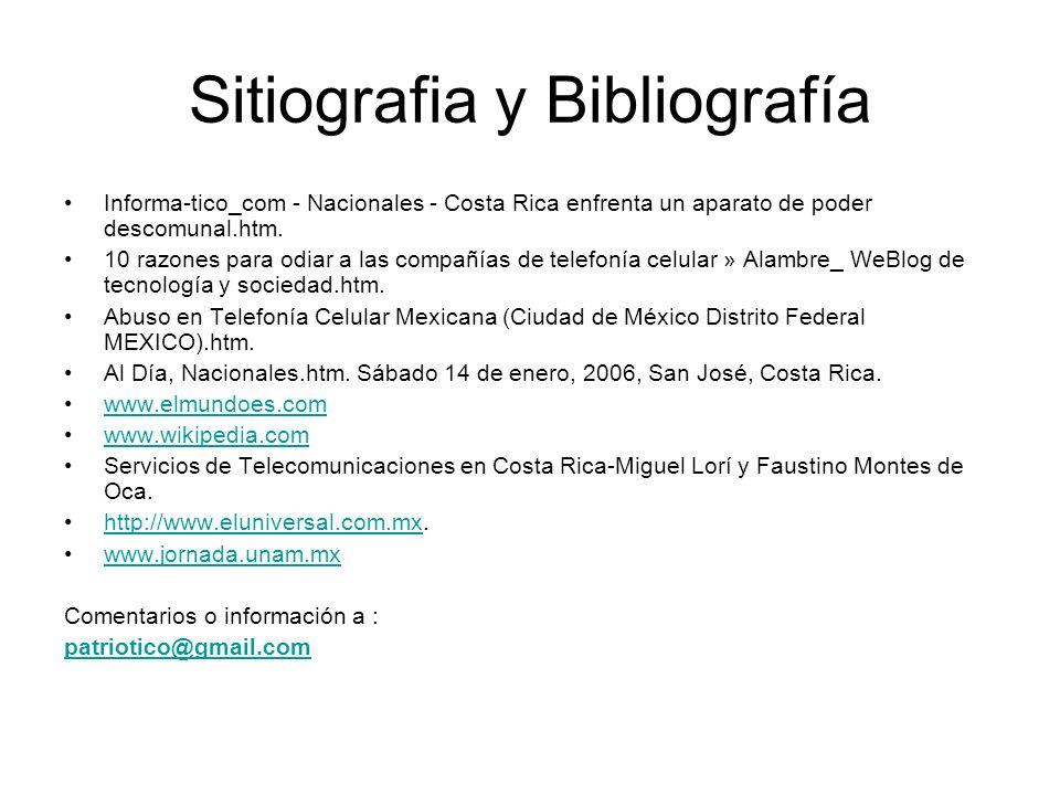 Sitiografia y Bibliografía