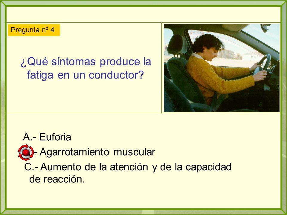¿Qué síntomas produce la fatiga en un conductor