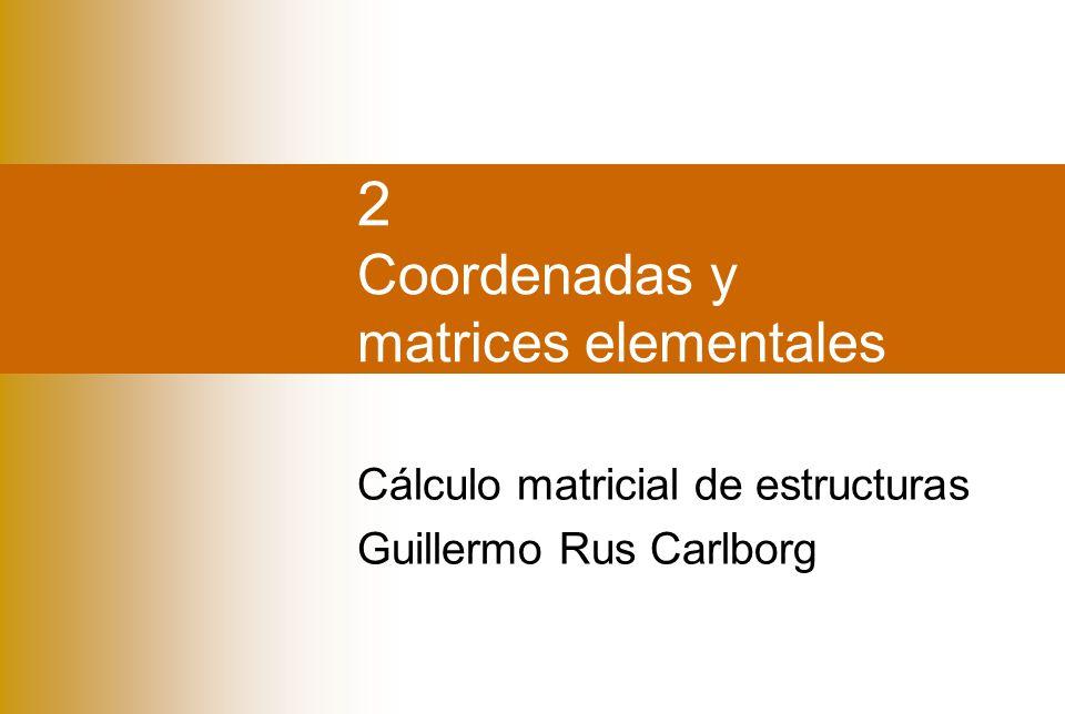 2 Coordenadas y matrices elementales