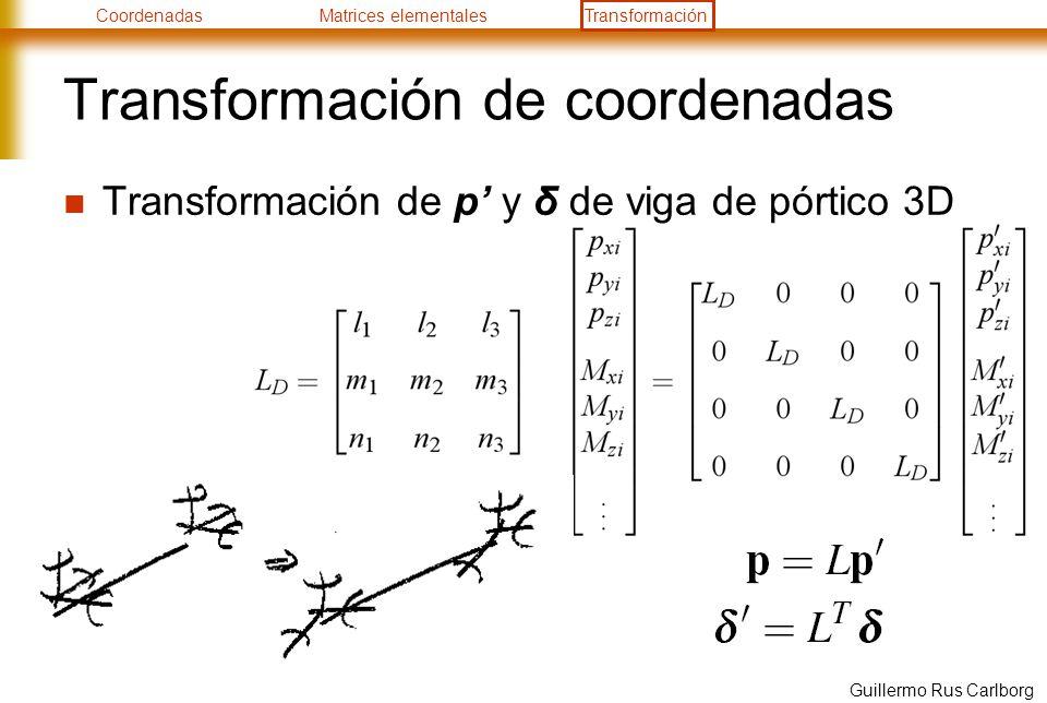 Transformación de coordenadas