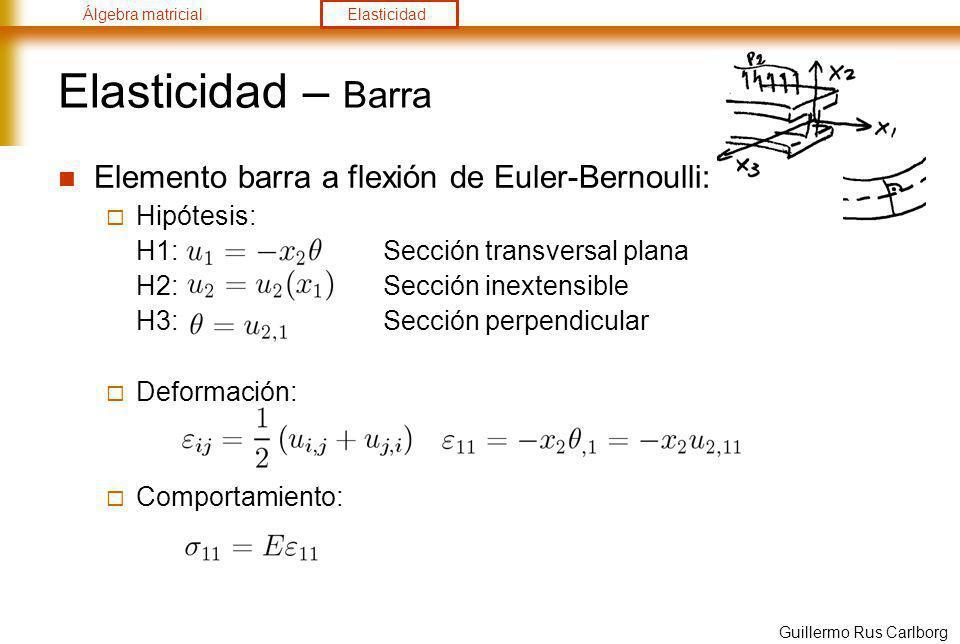 Elasticidad – Barra Elemento barra a flexión de Euler-Bernoulli: