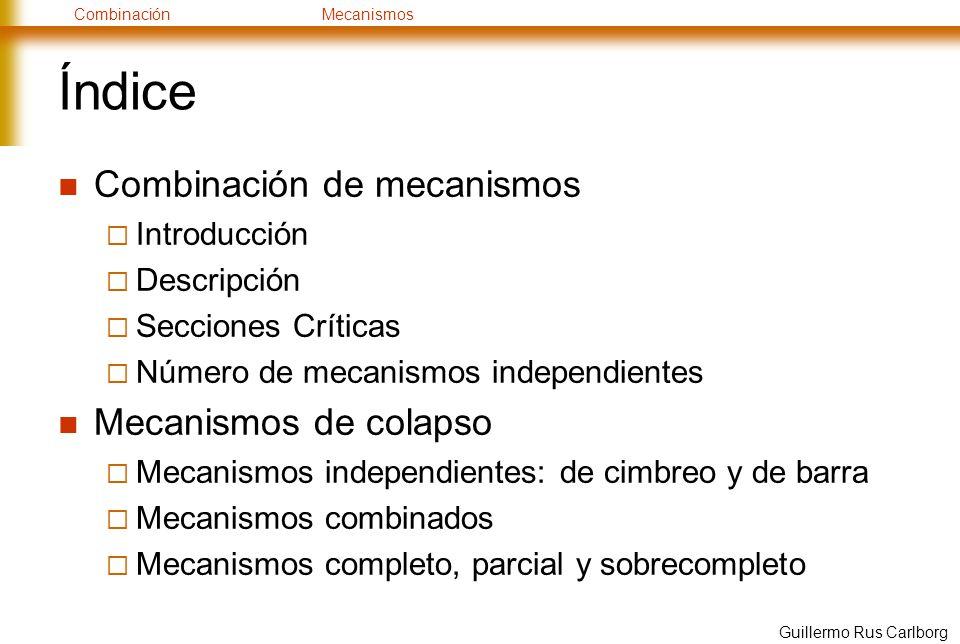 Índice Combinación de mecanismos Mecanismos de colapso Introducción