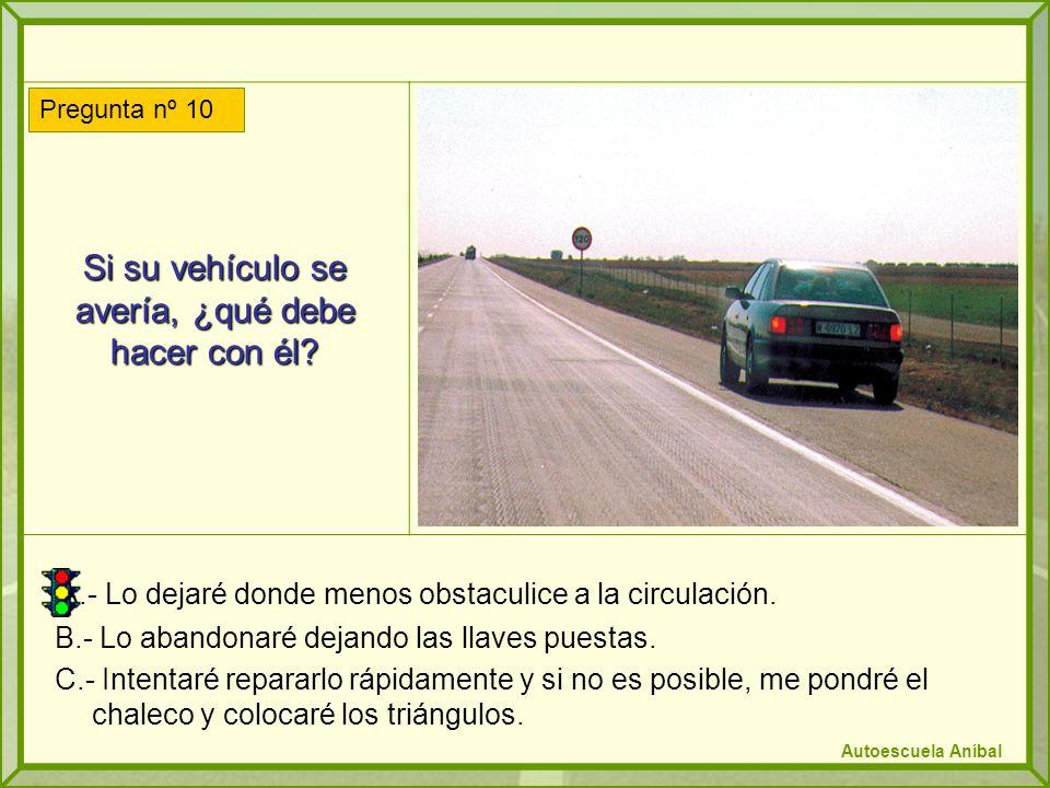 Si su vehículo se avería, ¿qué debe hacer con él