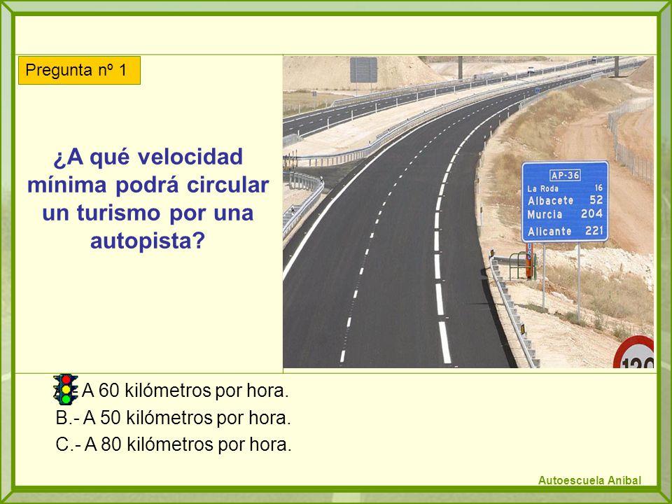 ¿A qué velocidad mínima podrá circular un turismo por una autopista