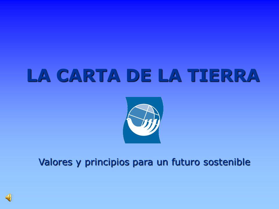 Valores y principios para un futuro sostenible