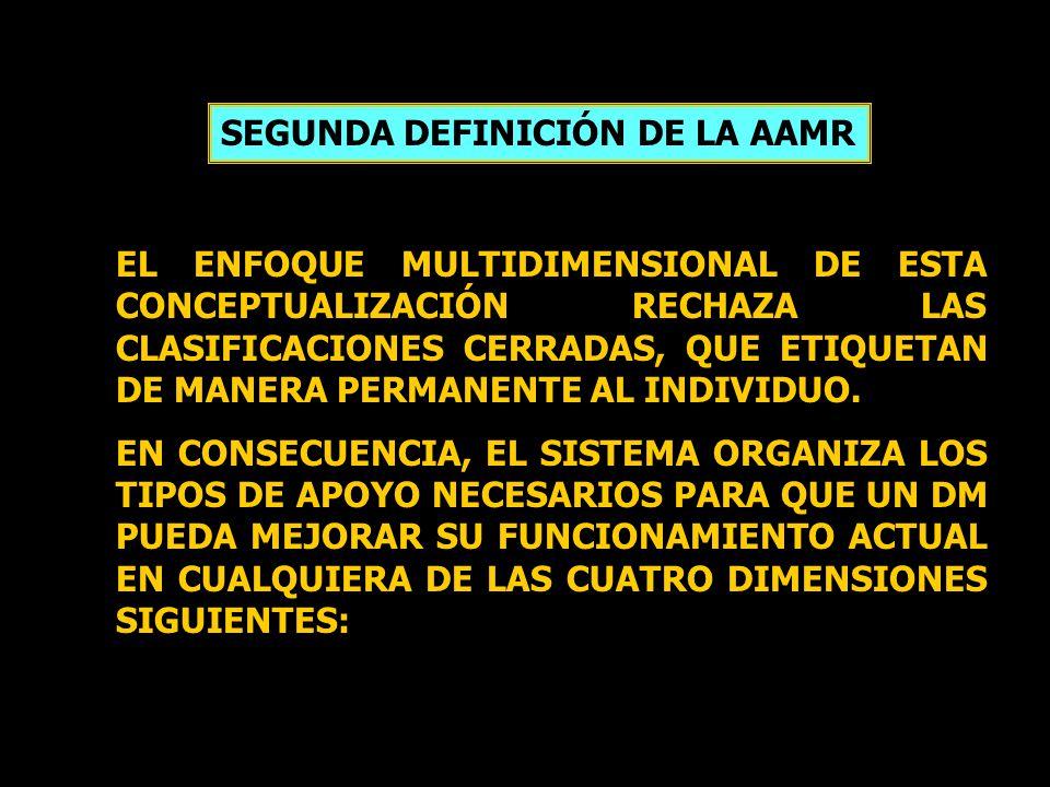 SEGUNDA DEFINICIÓN DE LA AAMR