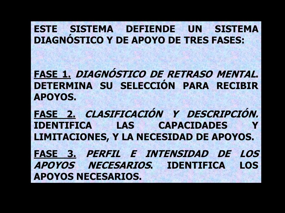 ESTE SISTEMA DEFIENDE UN SISTEMA DIAGNÓSTICO Y DE APOYO DE TRES FASES: