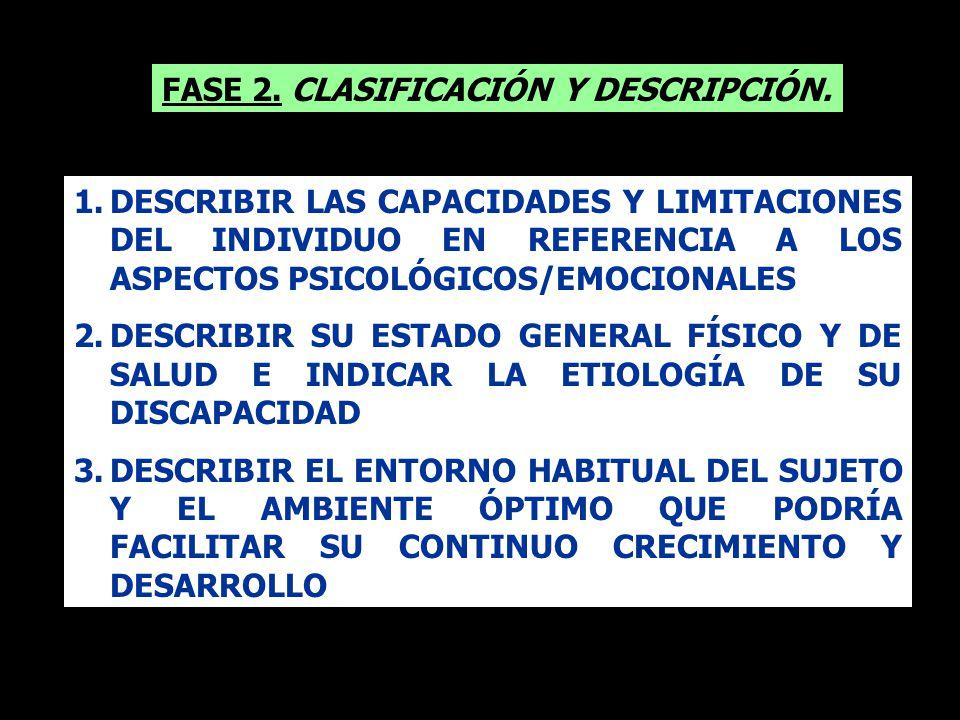 FASE 2. CLASIFICACIÓN Y DESCRIPCIÓN.