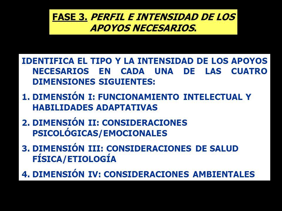 FASE 3. PERFIL E INTENSIDAD DE LOS