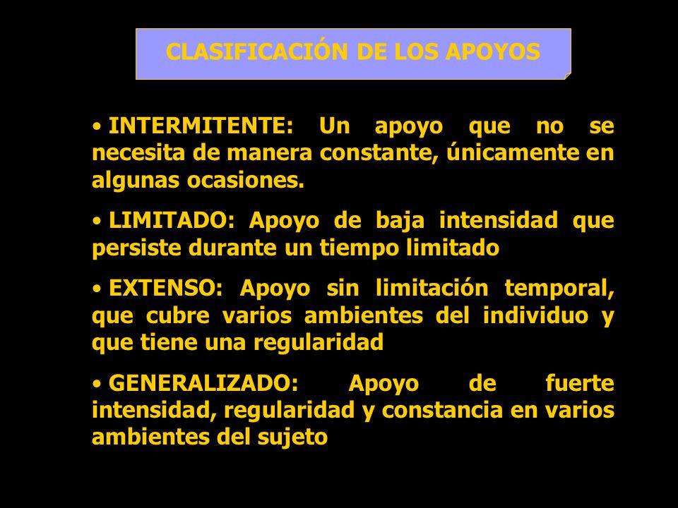 CLASIFICACIÓN DE LOS APOYOS