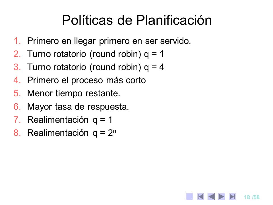 Políticas de Planificación