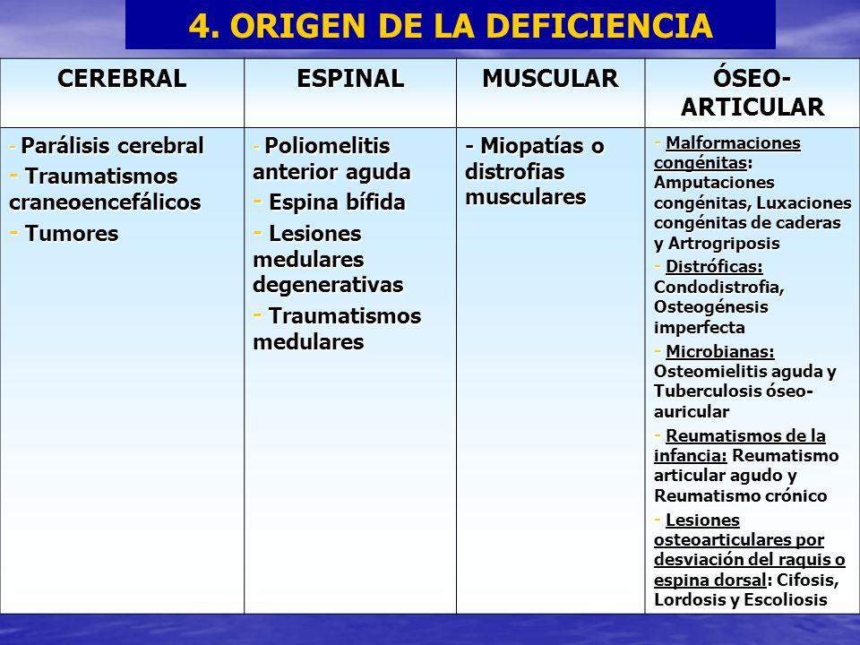 4. ORIGEN DE LA DEFICIENCIA